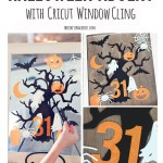 Window Cling Halloween Advent Calendar with Cricut Explore