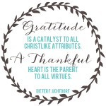 A Thankful Heart *Free Printable Quote