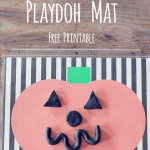 Pumpkin Playdoh Mat *Free Printable Halloween Game