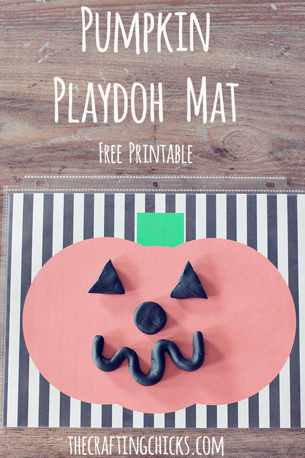 Pumpkin Playdoh Mat *Free Printable Halloween Game