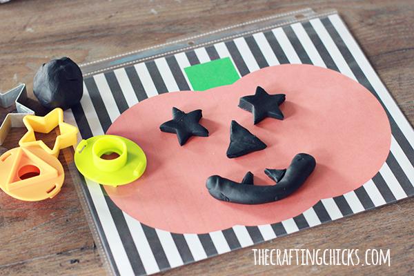 Play Doh Pumpkin mat
