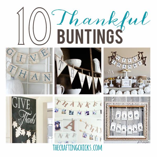 10 Beautiful Thankful Buntings