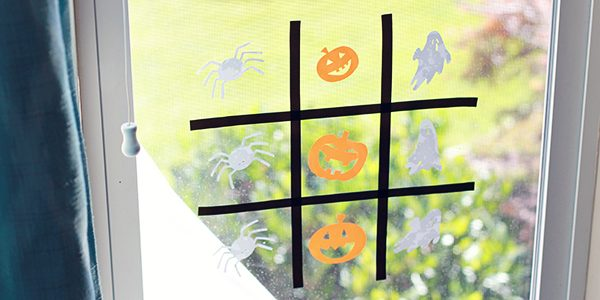 Halloween Tic-Tac-Toe with Cricut Window Cling