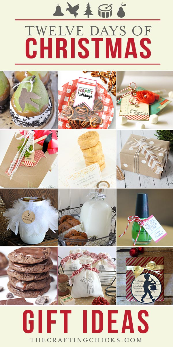 If you're looking for gift ideas for the 12 Days of Christmas, or just  neighbor gift ideas, you're going to love these 12 Christmas Gift ideas  we've put ... - 12 Days Of Christmas Gift Ideas Part 1 - The Crafting Chicks