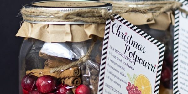 Christmas Stovetop Potpourri Recipe & Free Printable Gift Tag::Bloggers Best 12 Days of Christmas