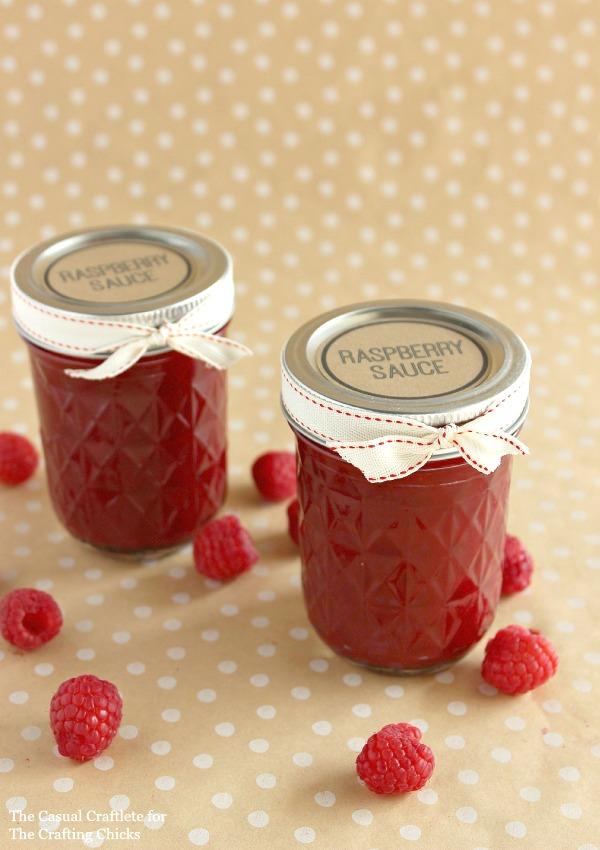 DIY Gift  Raspberry Sauce