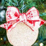 Birch Wood Glitter Ornaments::Bloggers Best 12 Days of Christmas
