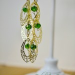 Gold & Green Party Earrings::Bloggers Best 12 Days of Christmas