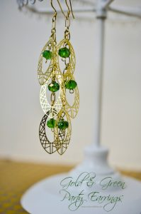 Gold-Green-Party-Earrings-Tutorial-by-Bombshell-Bling