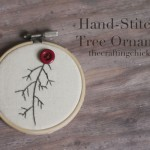 Hand-stitched Tree Ornament