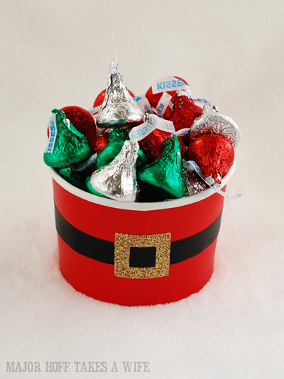 Santa's belly easy to create candy holder