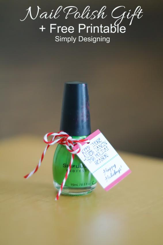 Ladies Dancing Fingernail Polish Gift Idea