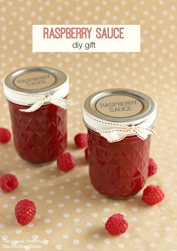 Raspberry Sauce DIY Gift