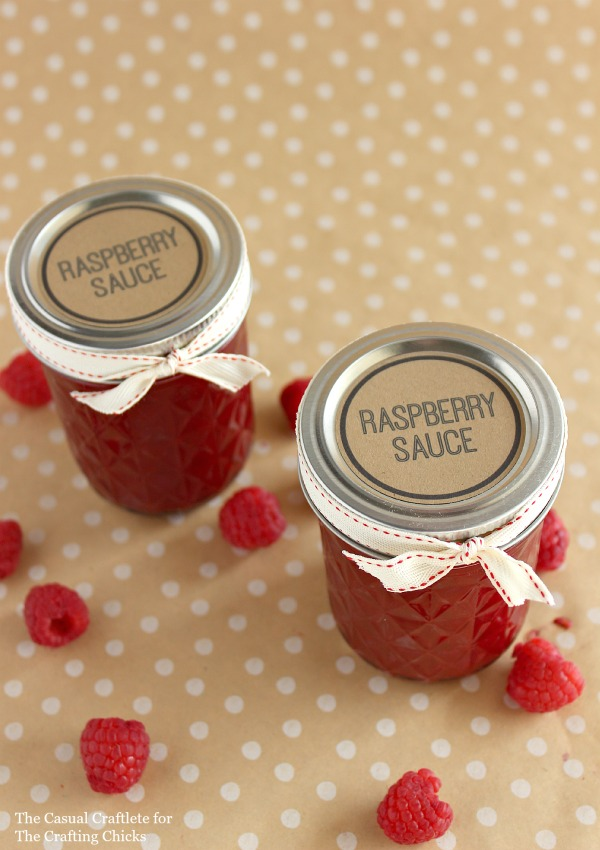 Raspberry Sauce Labels for Jars