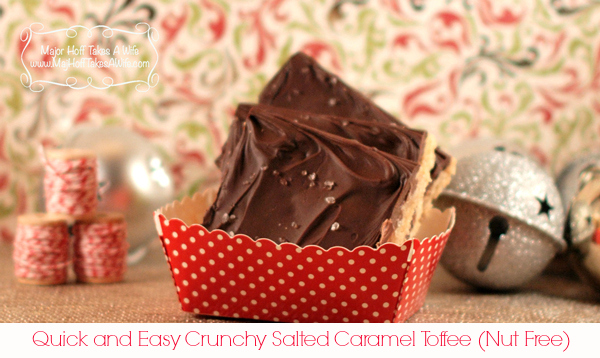 Quick and Easy Crunchy Salted Caramel Toffee (nut Free)