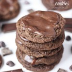 Decadent Triple Chocolate Grasshopper Cookies::Bloggers Best 12 Days of Christmas