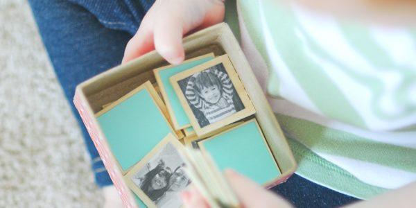 DIY Personalized Memory Game::Bloggers Best 12 Days of Christmas