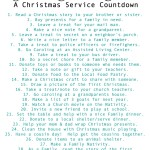 Tis the Season to Serve…A Christmas Service Countdown