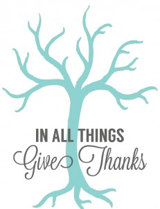 sm thanful tree