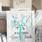 Thankful Tree with Silver Leaves