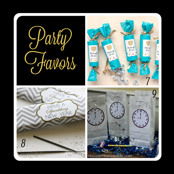 Fabulous party favors for your New Year's Eve party