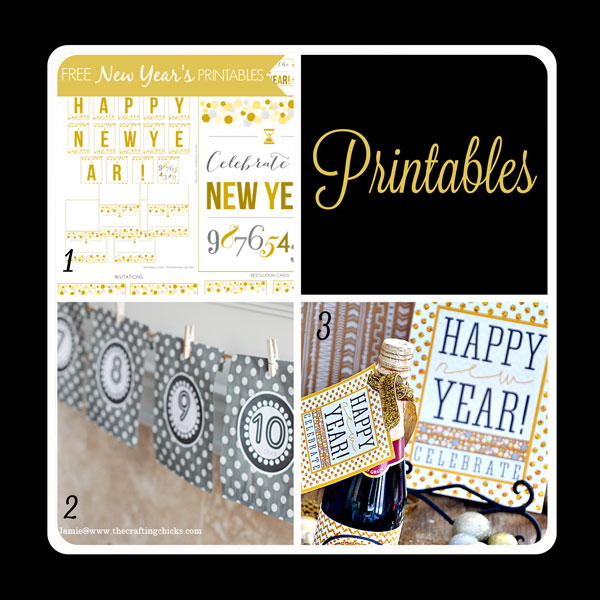 Fabulous printables for your New Year's Eve party