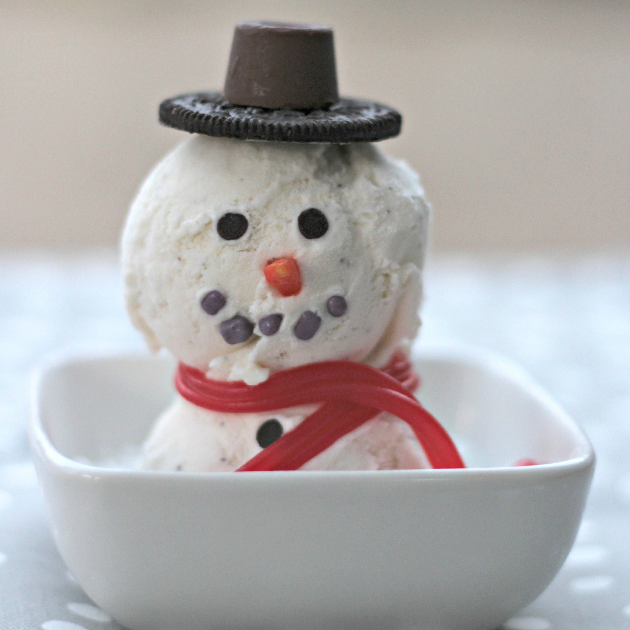 Homemade Ice Cream Snowman