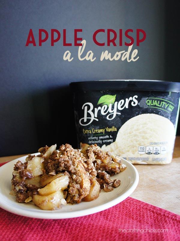 Apple Crisp a la Mode