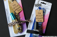Super cute non-candy Valentine idea for girls and teens! I'm Wild about You Valentines with animal print emery boards, nail polish and a hair band!