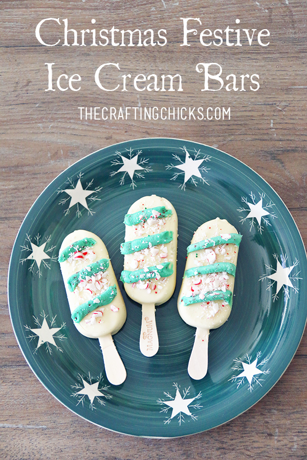 Christmas Festive Ice Cream Bars