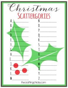 sm christmas scattergories