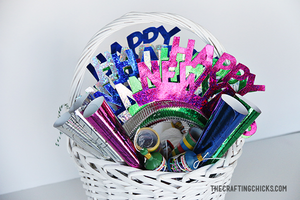 New Year's Eve Gift Basket - The Crafting Chicks