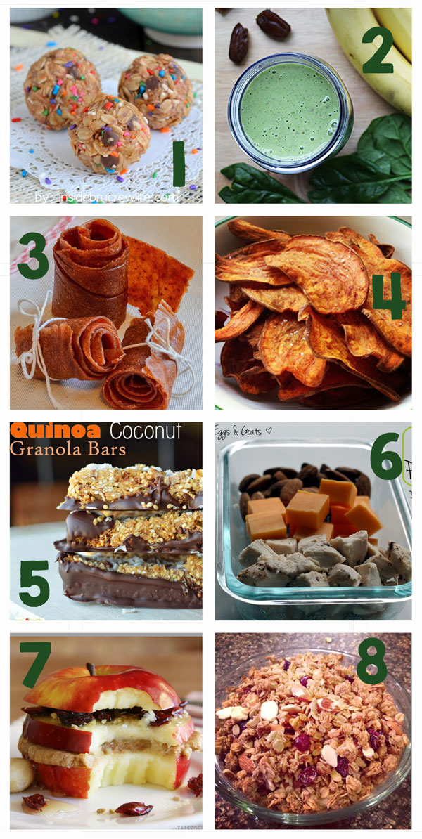 20 Healthy Snacks to Keep You Moving! These recipes are great!