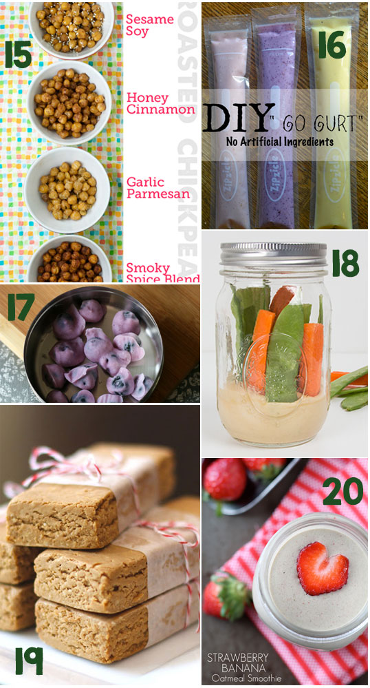 20 Healthy Snacks to Keep You Moving! - Oh I love these recipes!