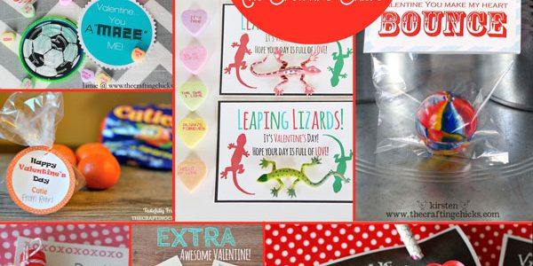 21 Free Printable Valentines on The Crafting Chicks