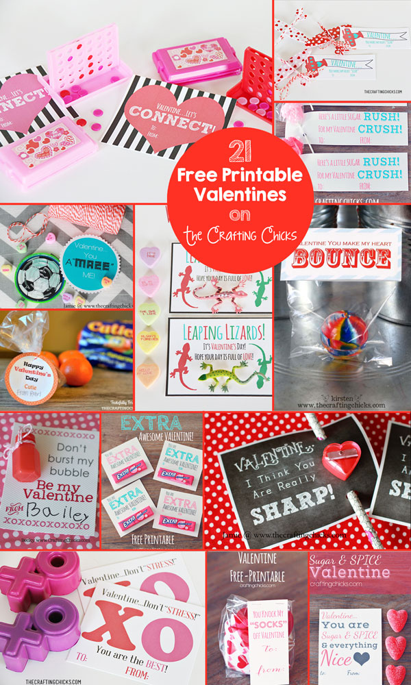 21 Free Valentine Printables - Oh my kids are going to love these!