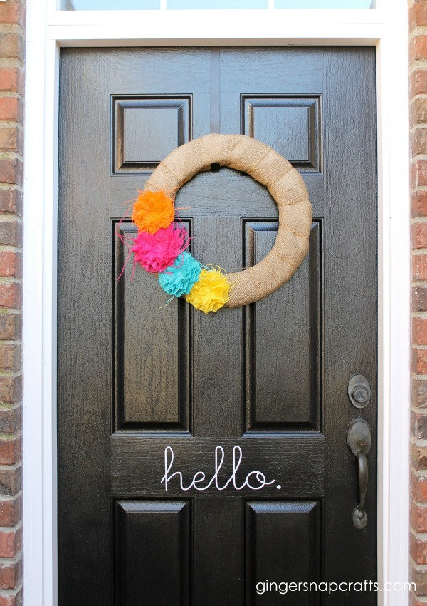 burlap spring wreath tutorial