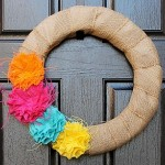 Colorful Burlap Wreath