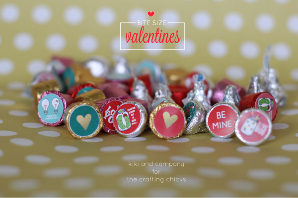 Bite Size Valentines at the crafting chicks. LOVE!