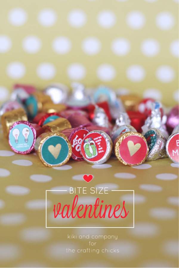 Bite Size Valentines at the crafting chicks. SO cute!