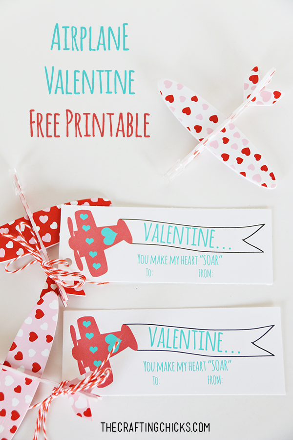 "You Make My Heart ""Soar"" Airplane Valentines *Free Printable"