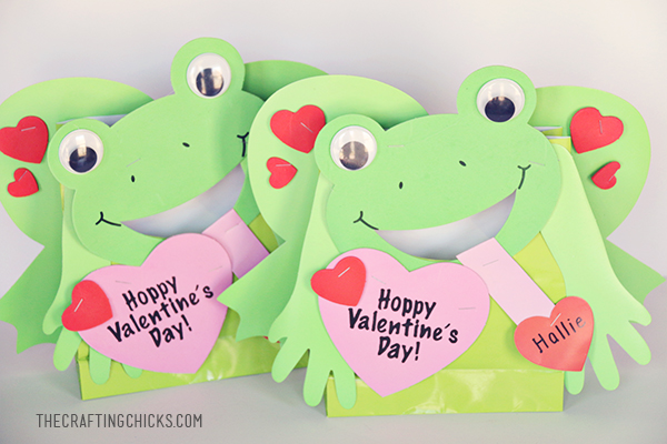 sm frog valentine holder