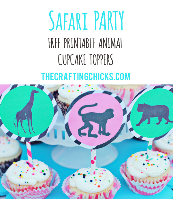 sm safari cupcake topper header