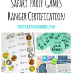 Safari Party Game Printables…Safari Ranger Certification
