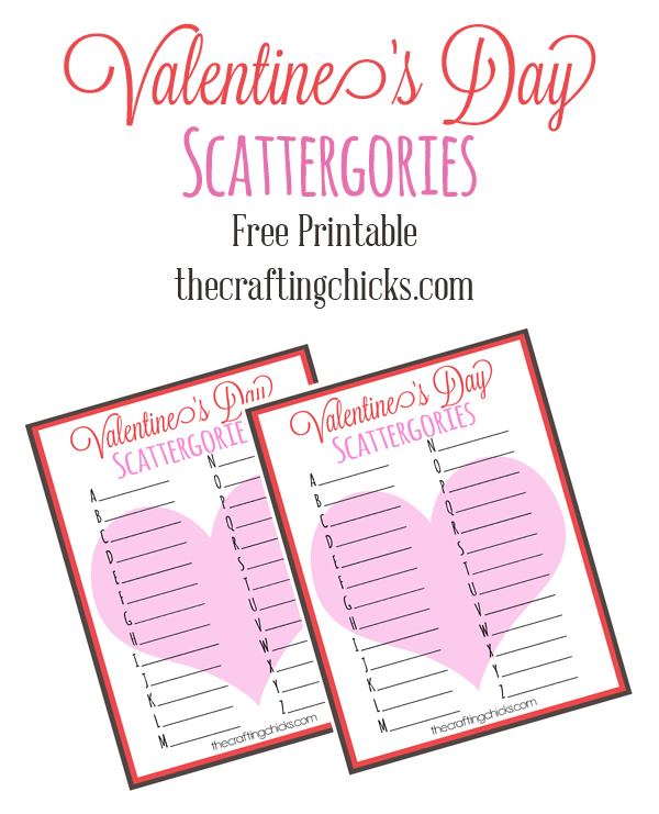 photo relating to Scattergories Answer Sheets Printable identified as Valentines Working day Scattergories - The Producing Chicks