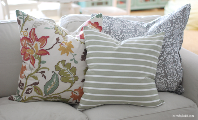 These pillows are a great way to add color to a room