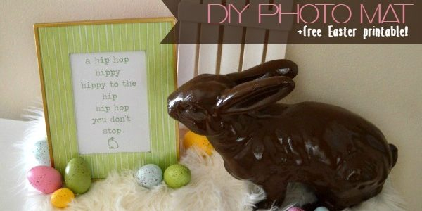 DIY Photo Mat and Free Easter Printable