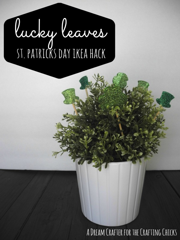 lucky leaves st. patricks day ikea hack