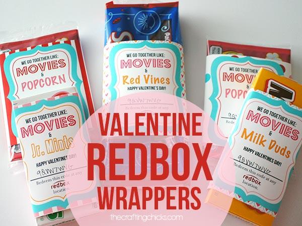 Valentine Redbox Wrappers