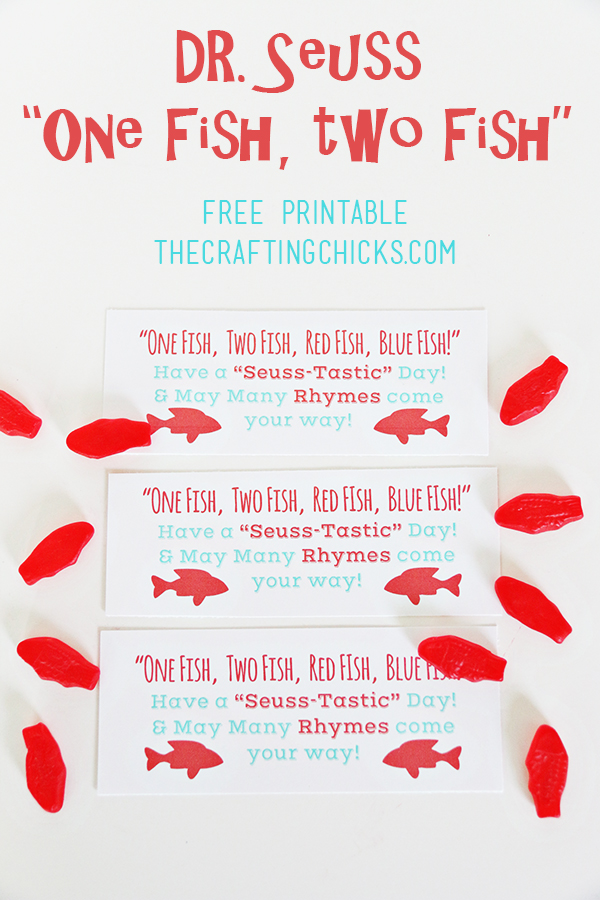 One fish two fish dr seuss tags free printable the for One fish two fish printable